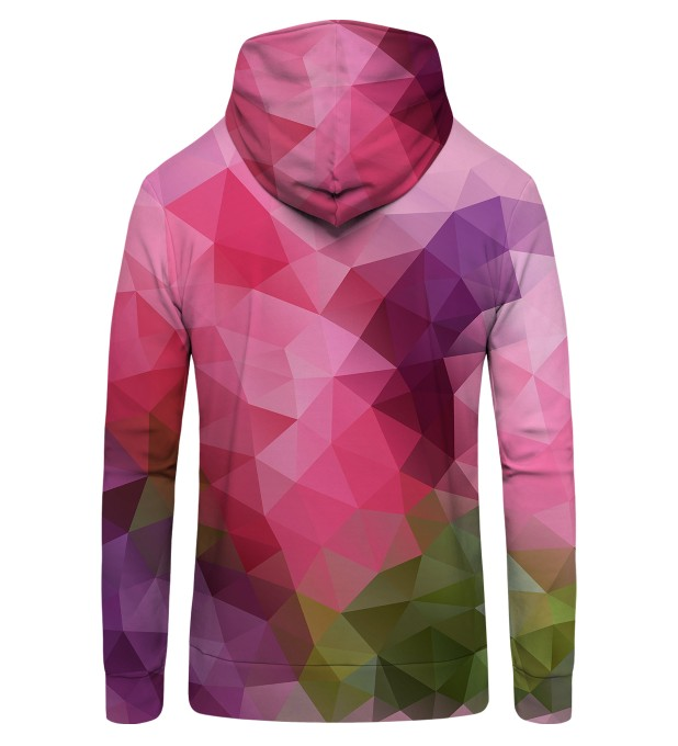 Violet geometric Zip Up Hoodie Thumbnail 2