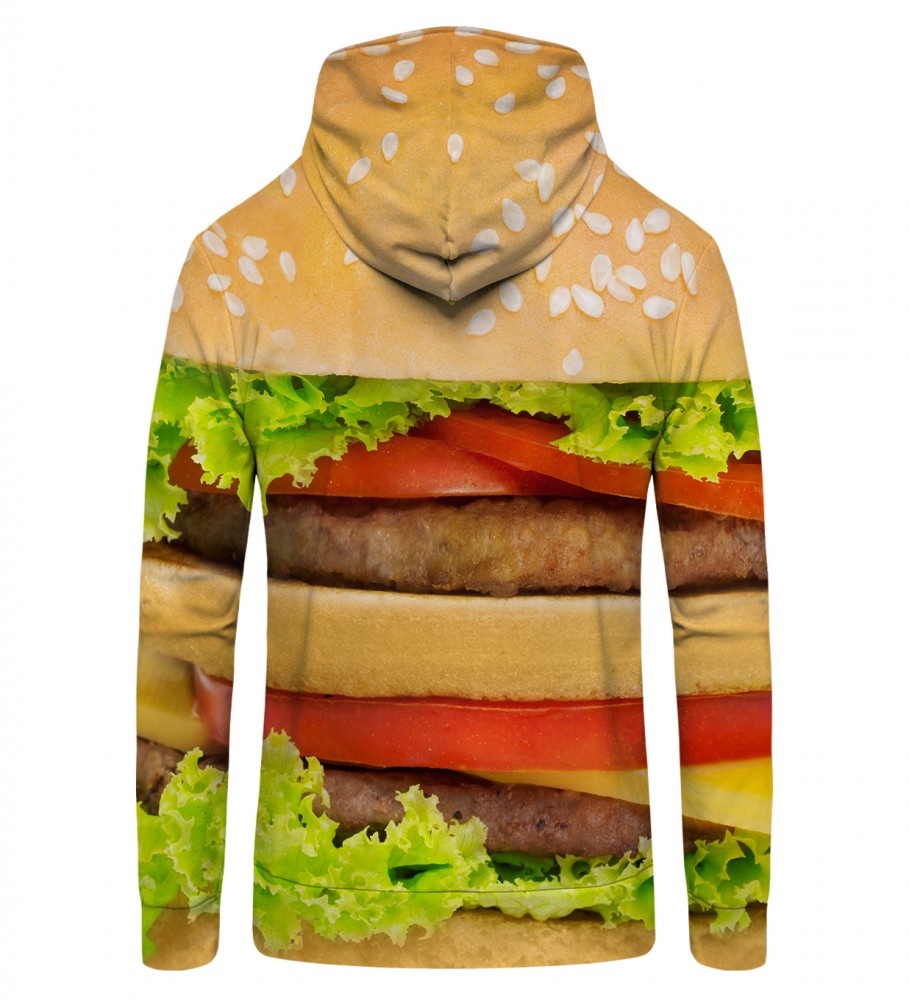 Mr. Gugu & Miss Go, Hamburger Zip Up Hoodie Image $i
