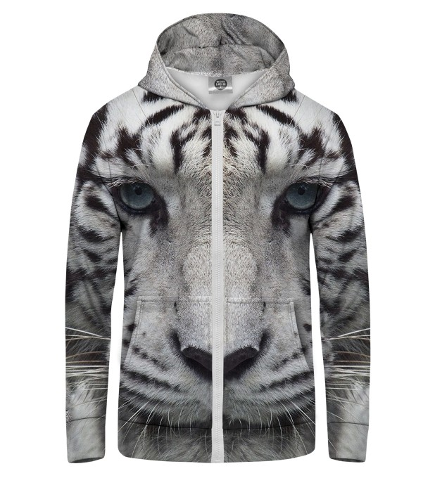 WHITE TIGER Zip Up Hoodie Thumbnail 1