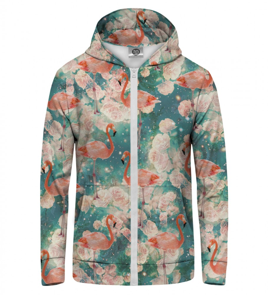 Mr. Gugu & Miss Go, FLAMINGOS Zip Up Hoodie Image $i