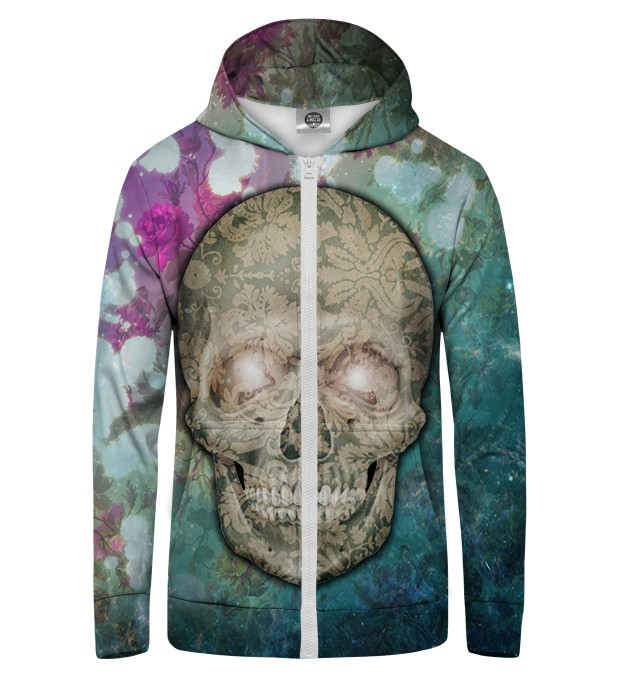 FLOWER SKULL Zip Up Hoodie Thumbnail 1
