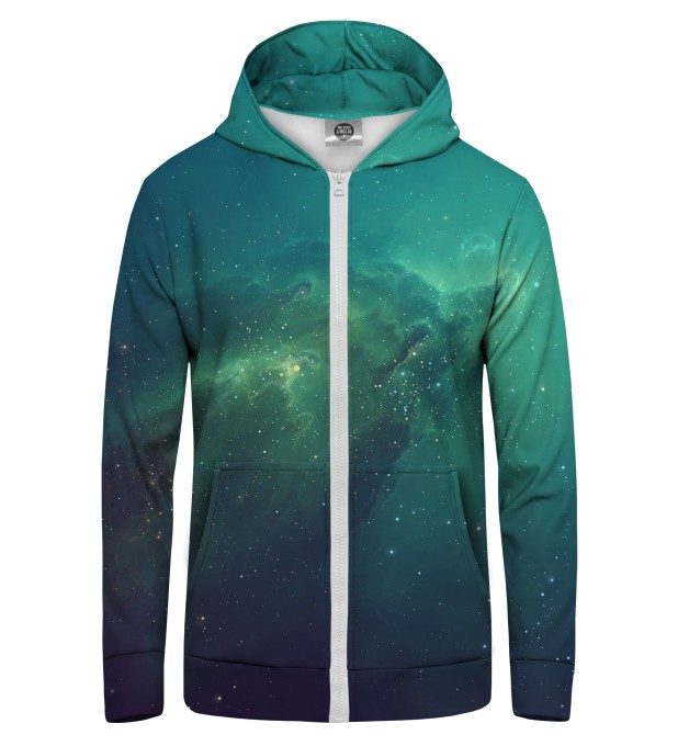 BLUE NEBULA  Zip Up Hoodie Miniature 1