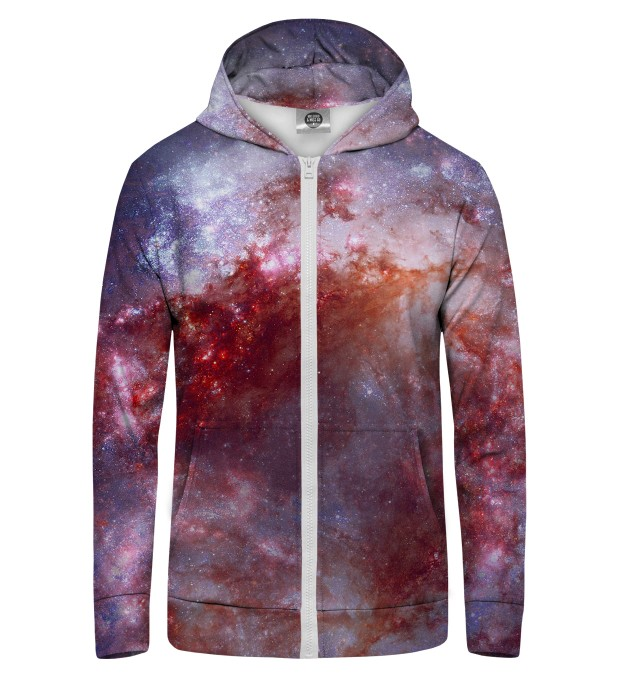 RED NEBULA  Zip Up Hoodie Thumbnail 1