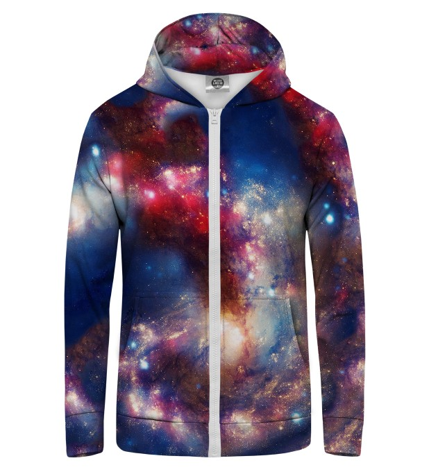 RED BLUE NEBULA Zip Up Hoodie Thumbnail 1