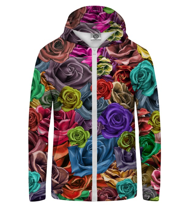 COLORFUL ROSES Zip Up Hoodie Thumbnail 1