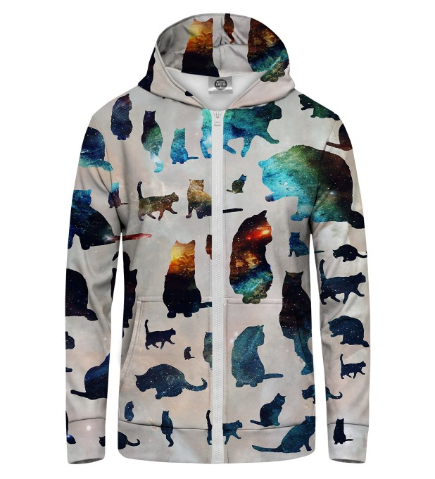 GALAXY CATS  Zip Up Hoodie Thumbnail 1