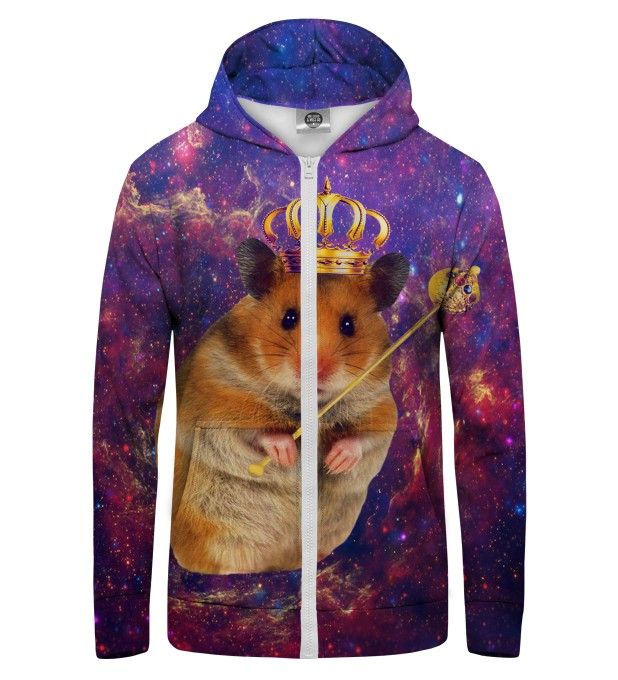 KING HAMSTER Zip Up Hoodie Thumbnail 1