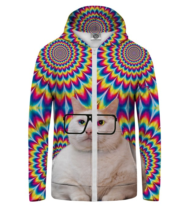FAT CAT Zip Up Hoodie Miniatura 1
