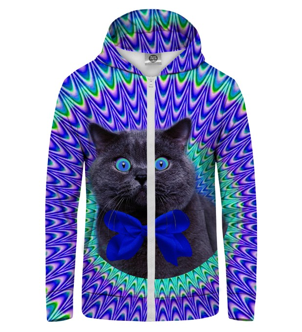 CRAZY CAT Zip Up Hoodie Thumbnail 1