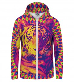 Mr. Gugu & Miss Go, CRAZY TIGER Zip Up Hoodie Thumbnail $i