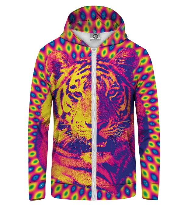 CRAZY TIGER Zip Up Hoodie Thumbnail 1