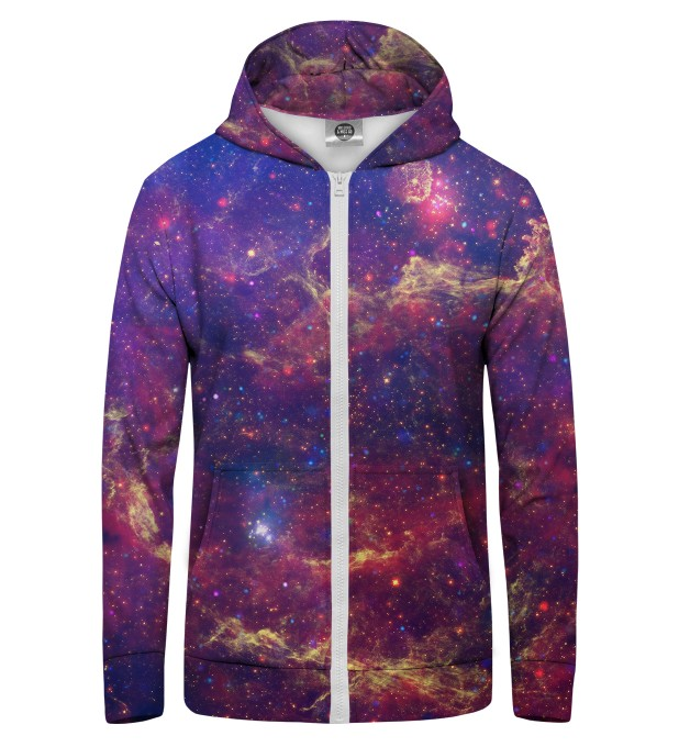 Purple Nebula Zip Up Hoodie Miniature 1