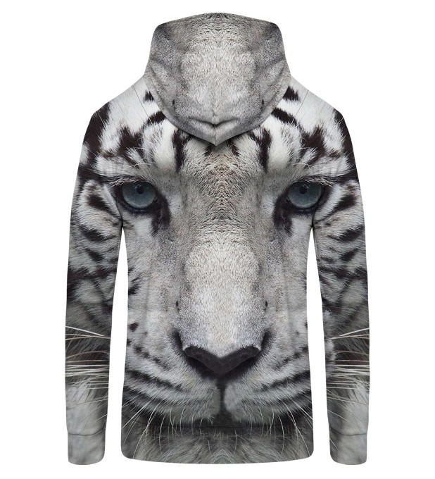 WHITE TIGER Zip Up Hoodie Thumbnail 2