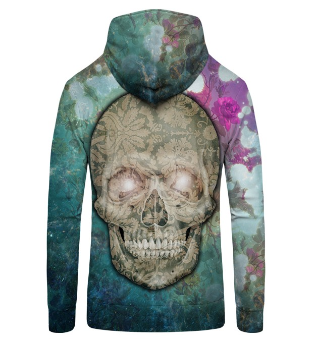 FLOWER SKULL Zip Up Hoodie Thumbnail 2