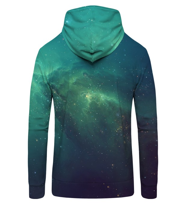 BLUE NEBULA  Zip Up Hoodie Thumbnail 2