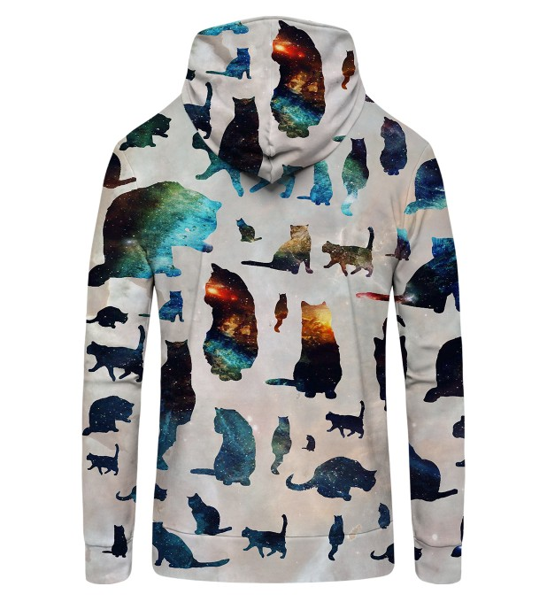 GALAXY CATS  Zip Up Hoodie Thumbnail 2