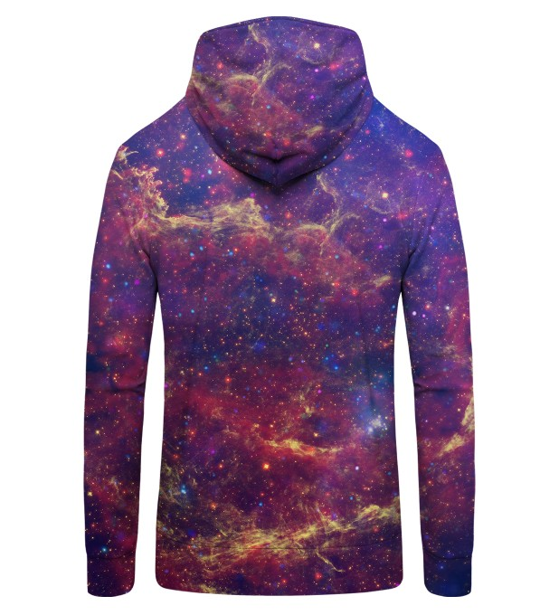 Purple Nebula Zip Up Hoodie Miniature 2