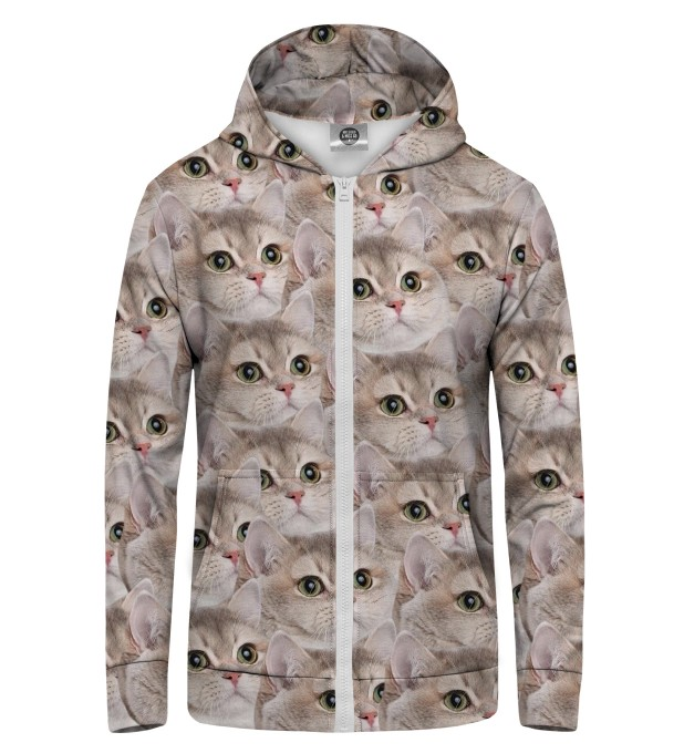 cats1 Zip Up Hoodie Thumbnail 1