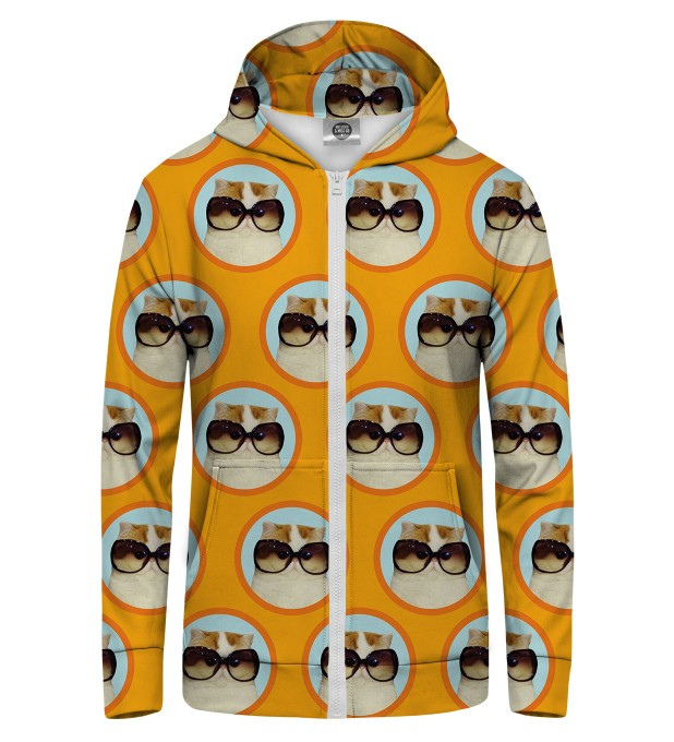 fabulous cat  Zip Up Hoodie Thumbnail 1