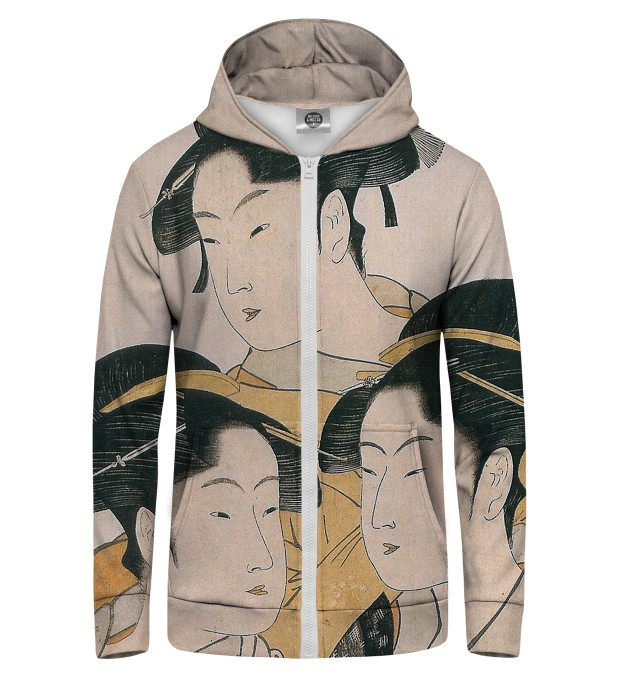 japanese girl Zip Up Hoodie Thumbnail 1