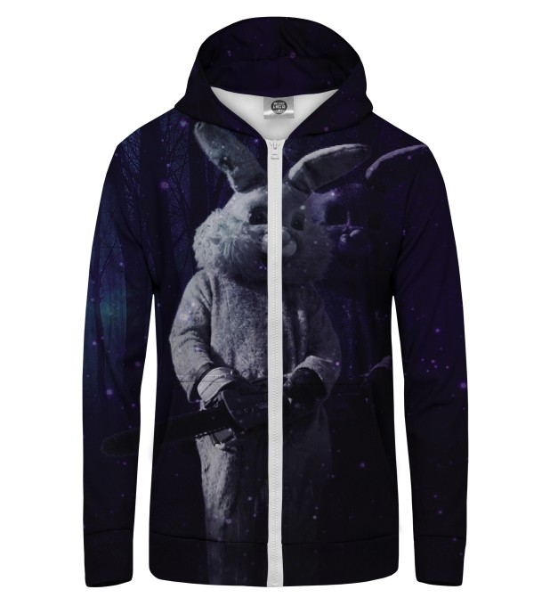 RABBIT MAN Zip Up Hoodie Thumbnail 1