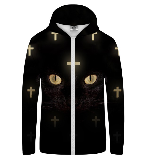 CROSS CAT NET Zip Up Hoodie Thumbnail 1