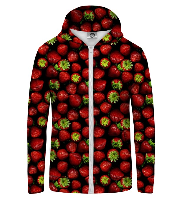 strawberries Zip Up Hoodie Thumbnail 1