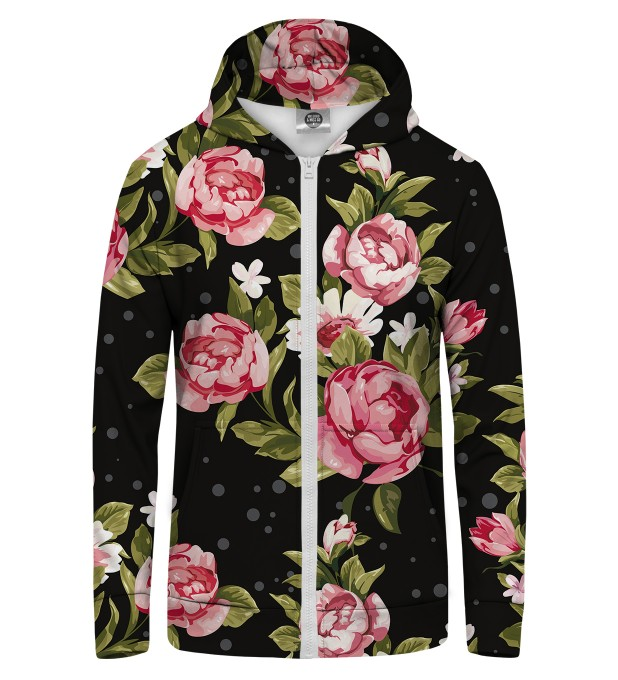 RED ROSES Zip Up Hoodie Thumbnail 1