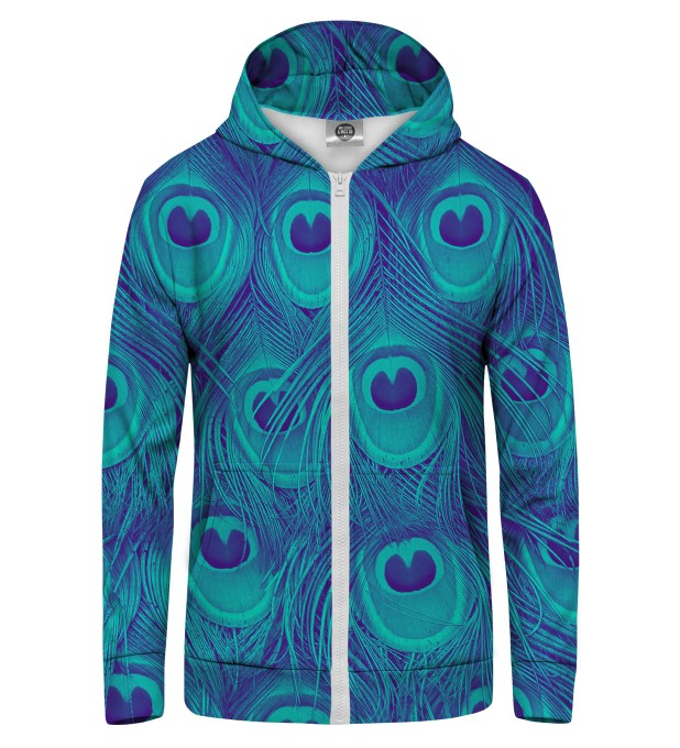 PEACOCK Zip Up Hoodie Thumbnail 1