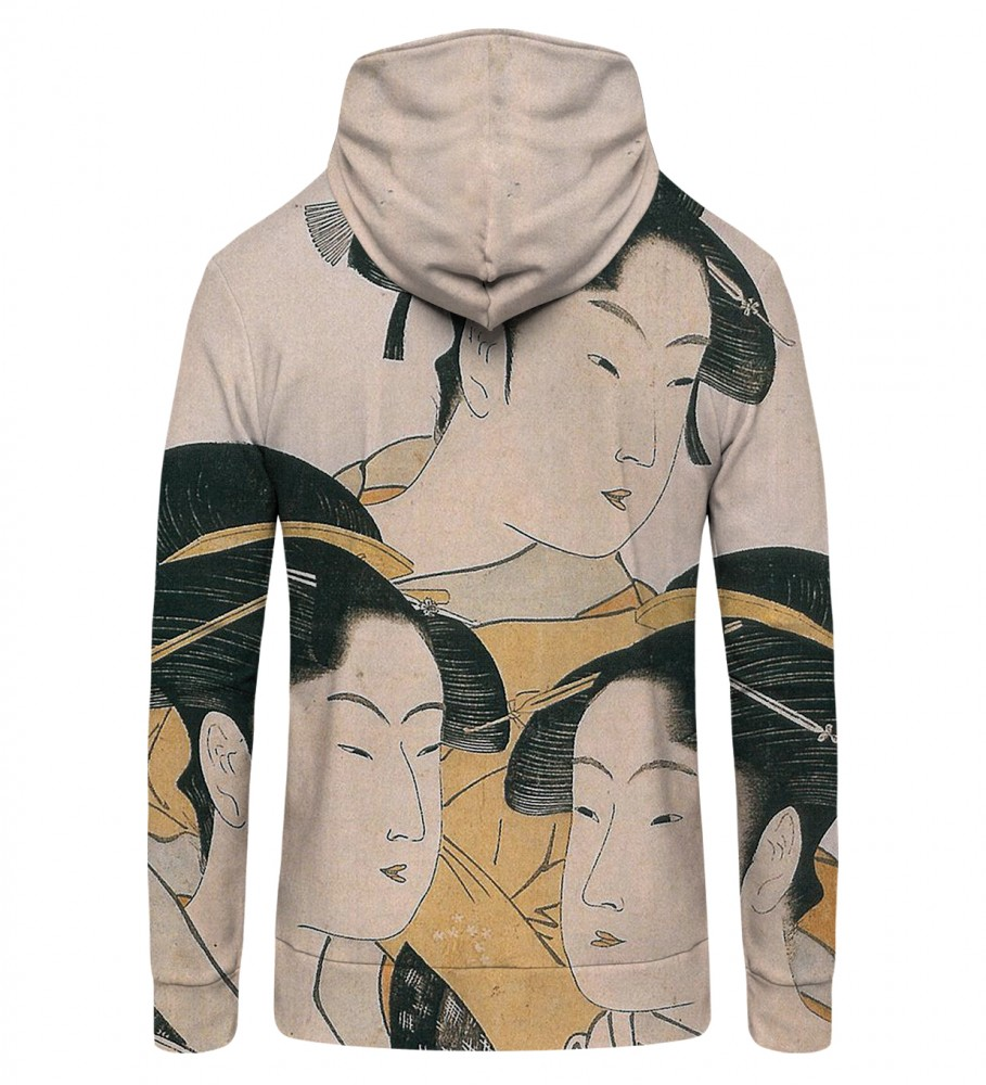 Mr. Gugu & Miss Go, japanese girl Zip Up Hoodie Image $i