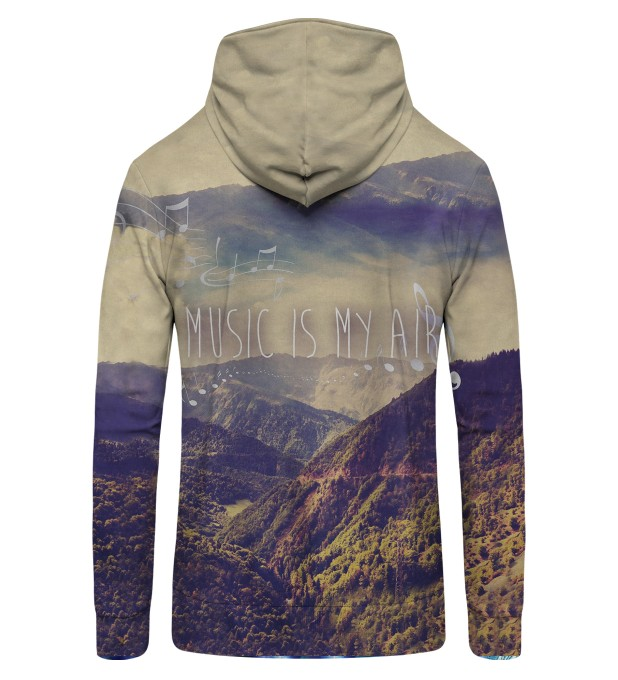 music is my air Zip Up Hoodie Thumbnail 2