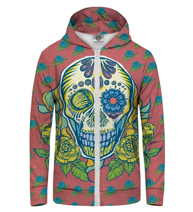 sugarskull Zip Up Hoodie Thumbnail 1
