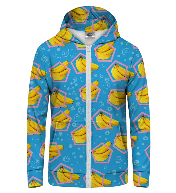 blue bananas Zip Up Hoodie Thumbnail 1