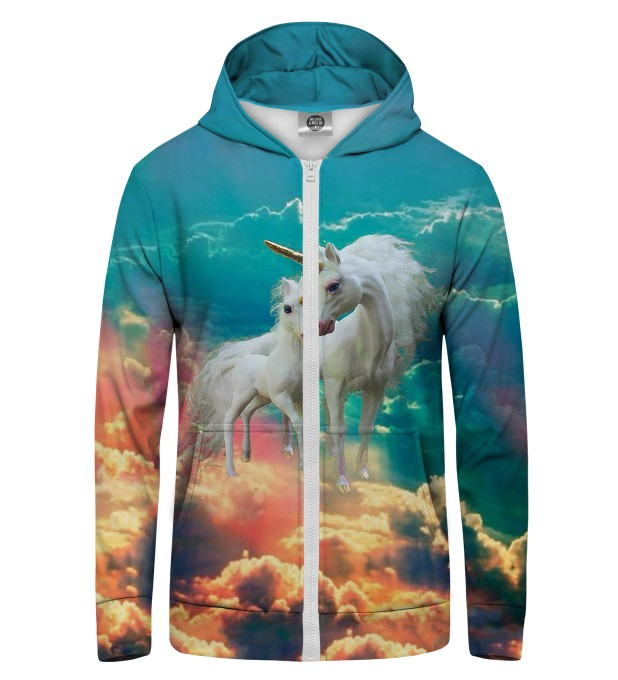 unicorn family Zip Up Hoodie Thumbnail 1