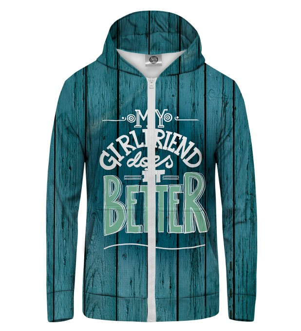 my girlfirend Zip Up Hoodie Miniature 1