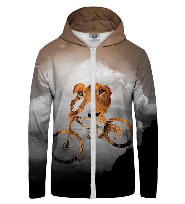 bike lion  Zip Up Hoodie Thumbnail 1