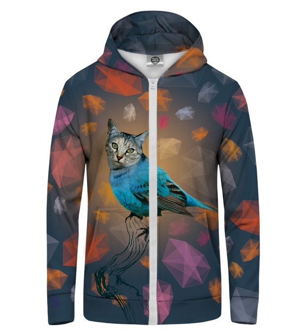 CAT BIRD Zip Up Hoodie Thumbnail 1