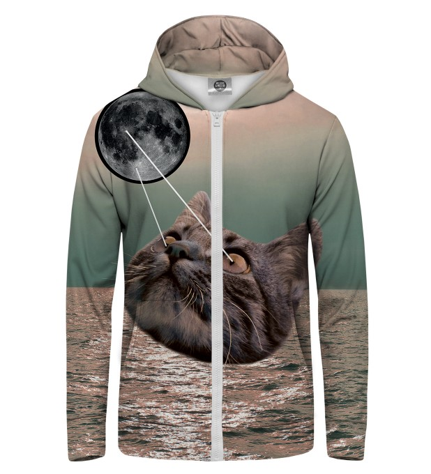 laser cat  Zip Up Hoodie Thumbnail 1