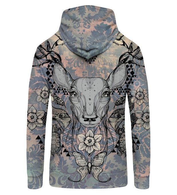 deer colage Zip Up Hoodie Thumbnail 2