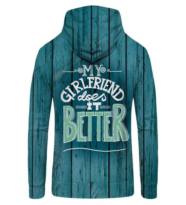 my girlfirend Zip Up Hoodie Miniature 2