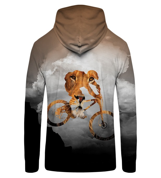 bike lion  Zip Up Hoodie Thumbnail 2