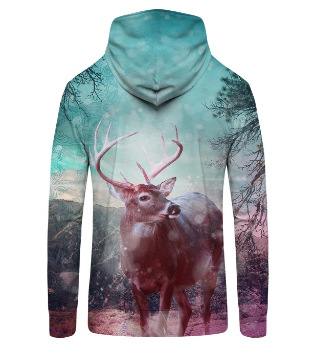 HIPSTER DEER Zip Up Hoodie Thumbnail 2