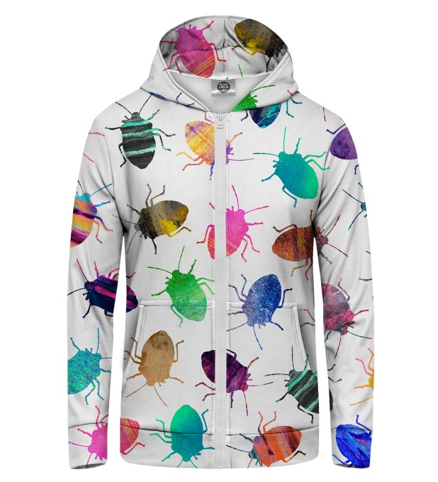 Colorful Cockroaches Zip Up Hoodie Thumbnail 1