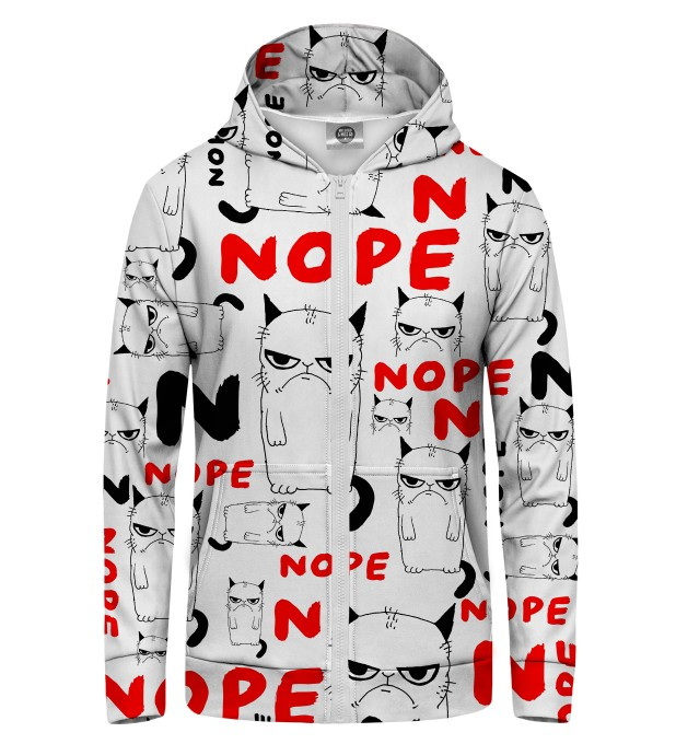 Grumpy Nope Zip Up Hoodie Thumbnail 1
