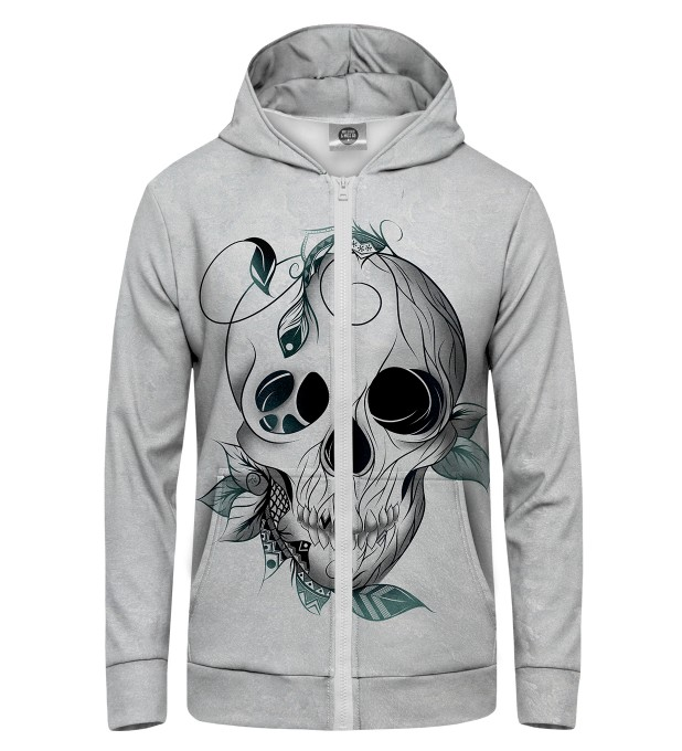 Leaf skull Zip Up Hoodie Thumbnail 1