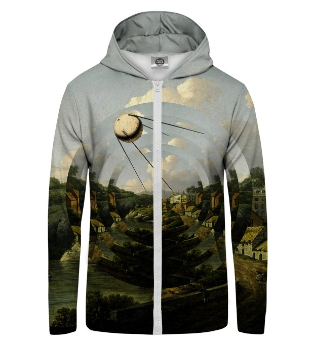 Sputnik City Zip Up Hoodie Thumbnail 1