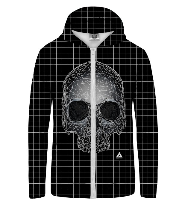 Square Skull Zip Up Hoodie Thumbnail 1