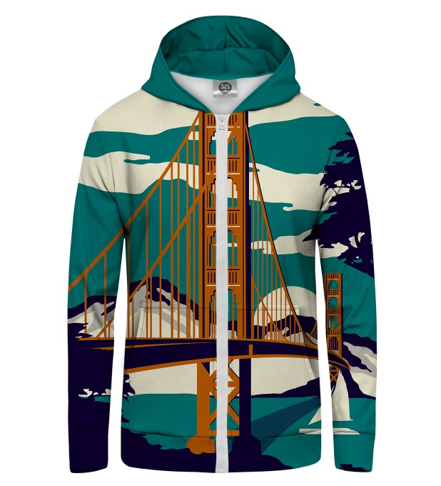 Golden Bridge Zip Up Hoodie Thumbnail 1