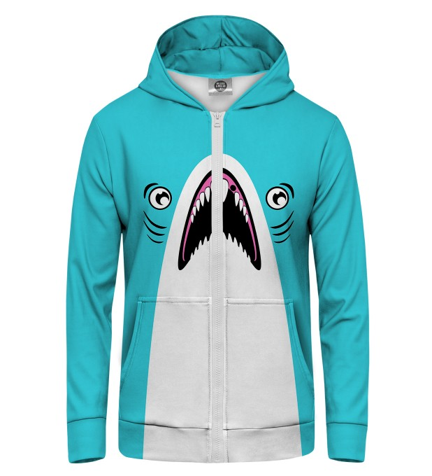 Blue Shark Zip Up Hoodie Thumbnail 1