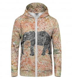 Mr. Gugu & Miss Go, Indian Elephant Zip Up Hoodie Thumbnail $i
